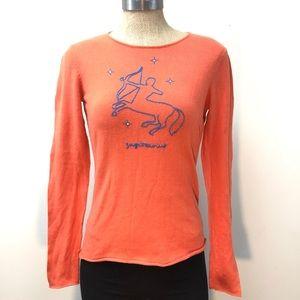 ACROBAT sagittarius zodiac orange sweater top s